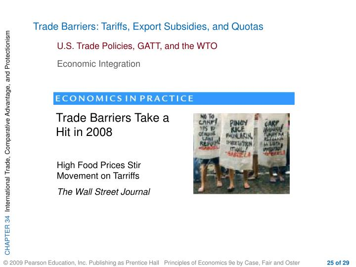 Trade Barriers: Tariffs, Export Subsidies, and Quotas