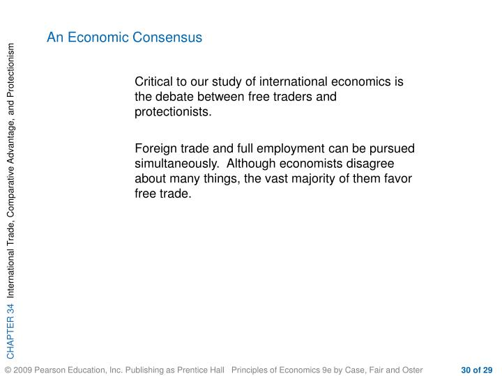 An Economic Consensus