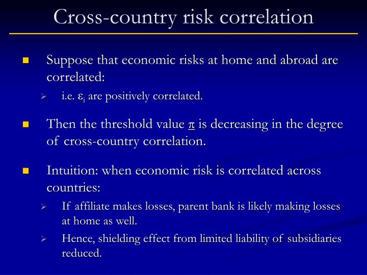 Cross-country risk correlation