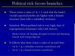 political risk favors branches