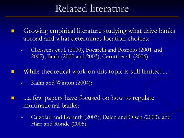 Related literature