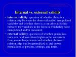 internal vs external validity