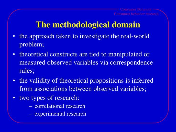 The methodological domain