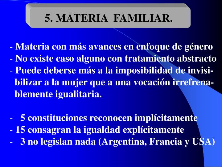 5. MATERIA  FAMILIAR.