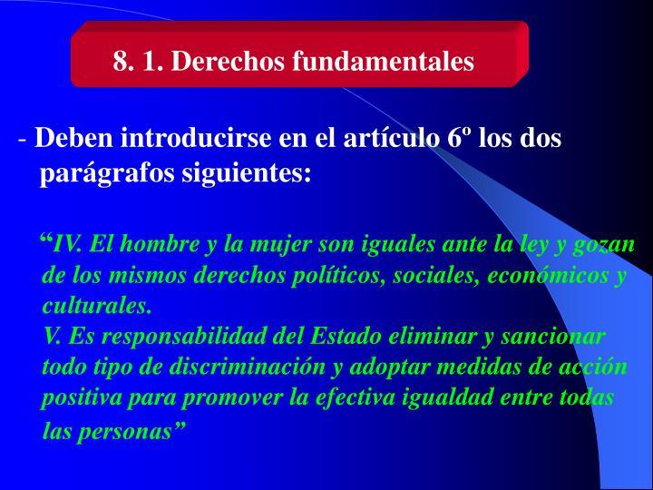 8. 1. Derechos fundamentales
