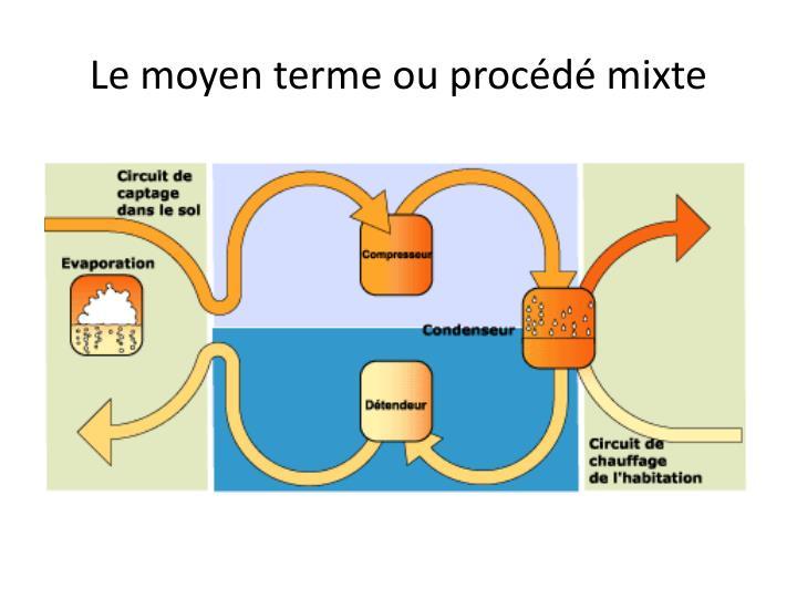Le moyen terme ou procédé mixte