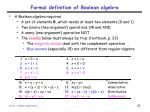 formal definition of boolean algebra