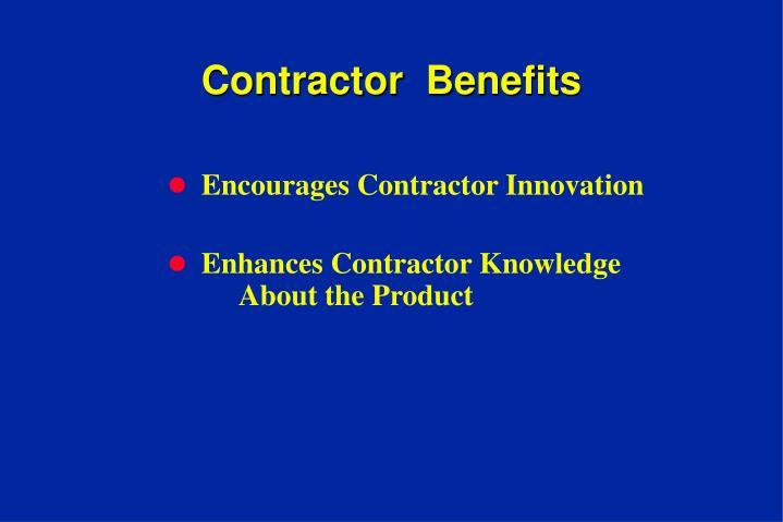Contractor  Benefits