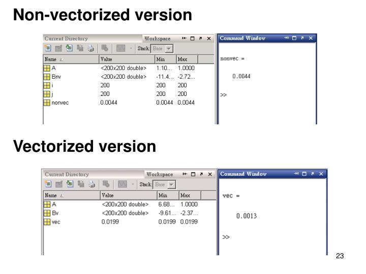 Non-vectorized version