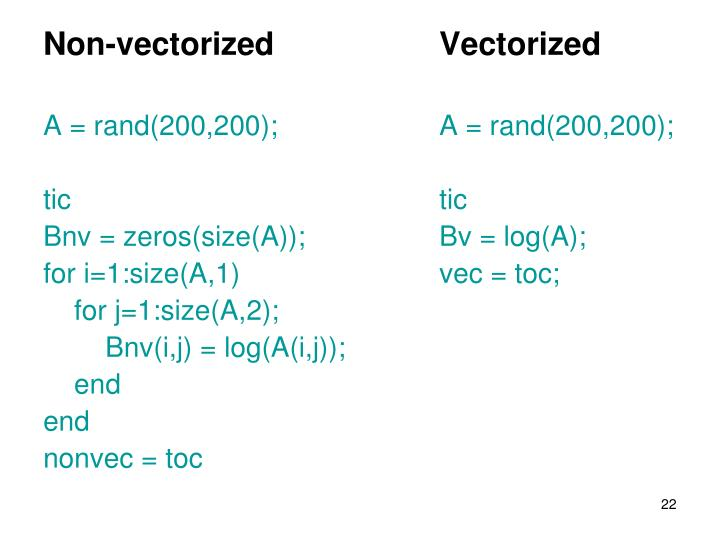 Non-vectorized