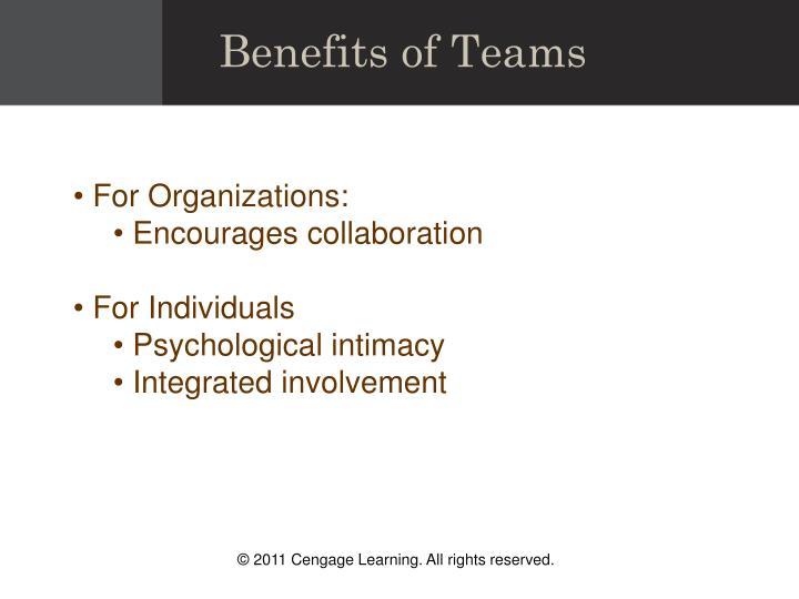 Benefits of Teams