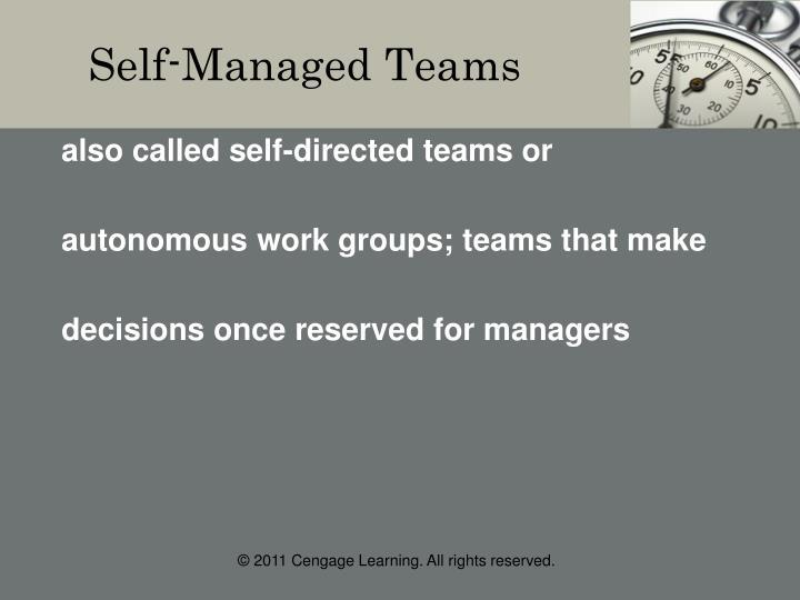 Self-Managed Teams