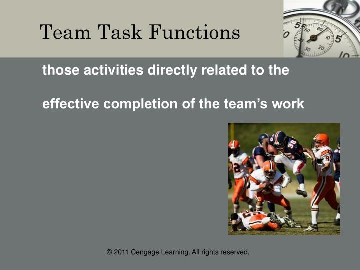 Team Task Functions