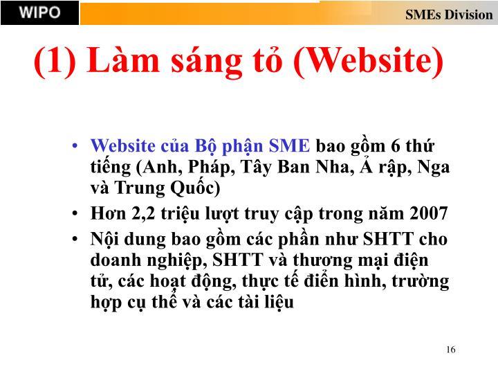 (1) Làm sáng tỏ (Website)