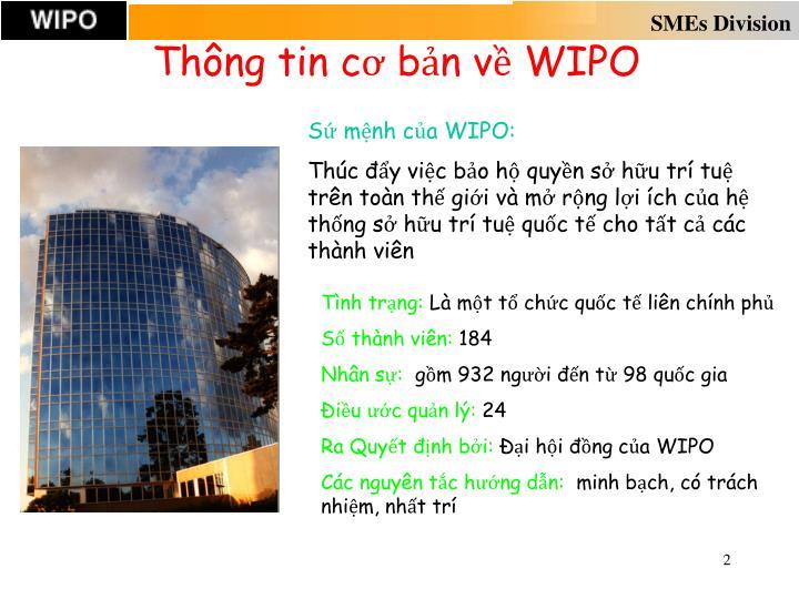 Thông tin cơ bản về WIPO