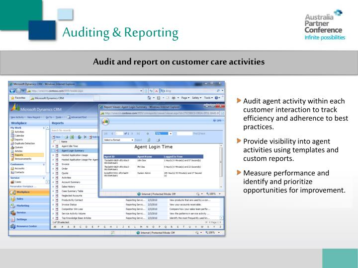 Auditing & Reporting
