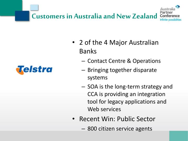 Customers in Australia and New Zealand