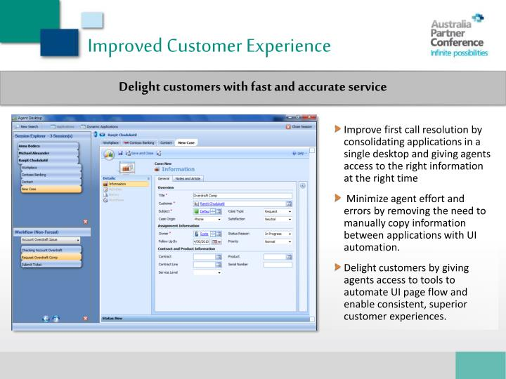 Improved Customer Experience