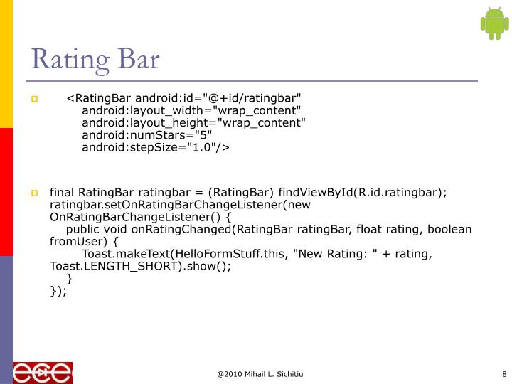 Rating Bar