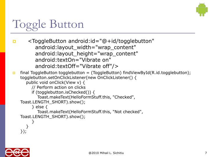 Toggle Button