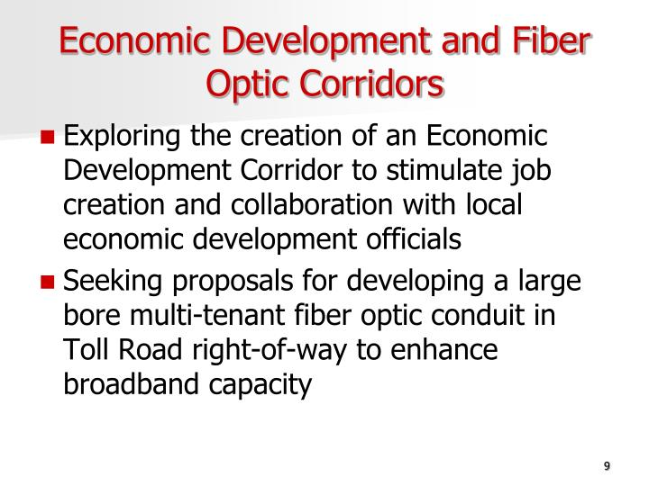 Economic Development and Fiber Optic Corridors