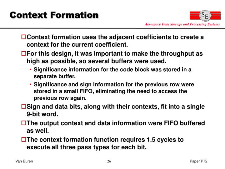 Context Formation
