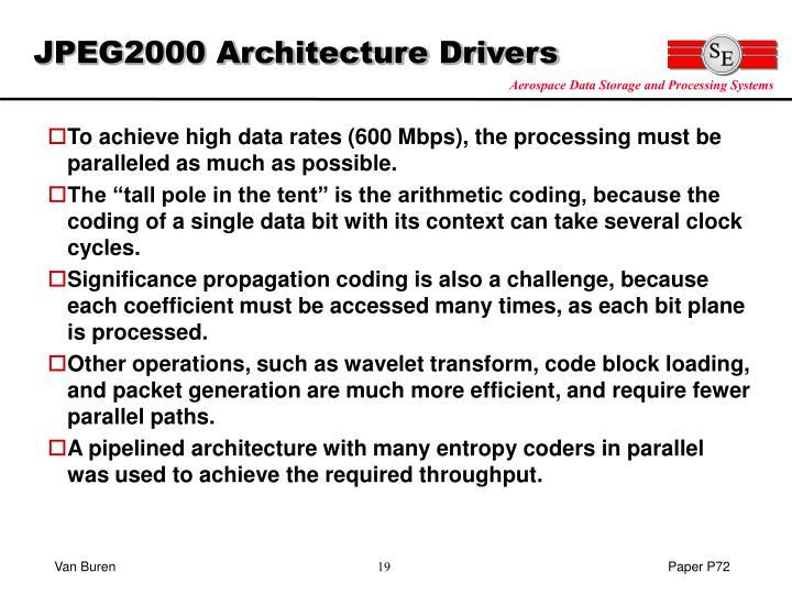 JPEG2000 Architecture Drivers