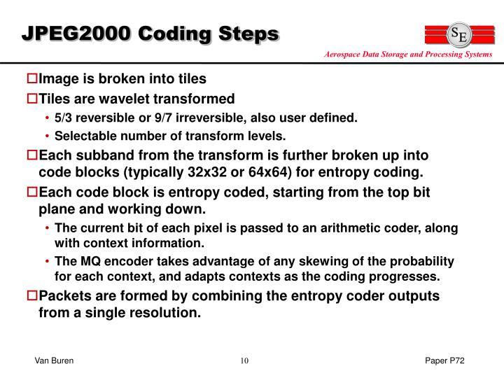 JPEG2000 Coding Steps