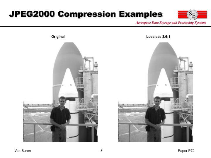 JPEG2000 Compression Examples