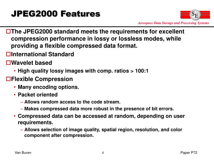 JPEG2000 Features