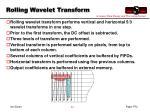 rolling wavelet transform