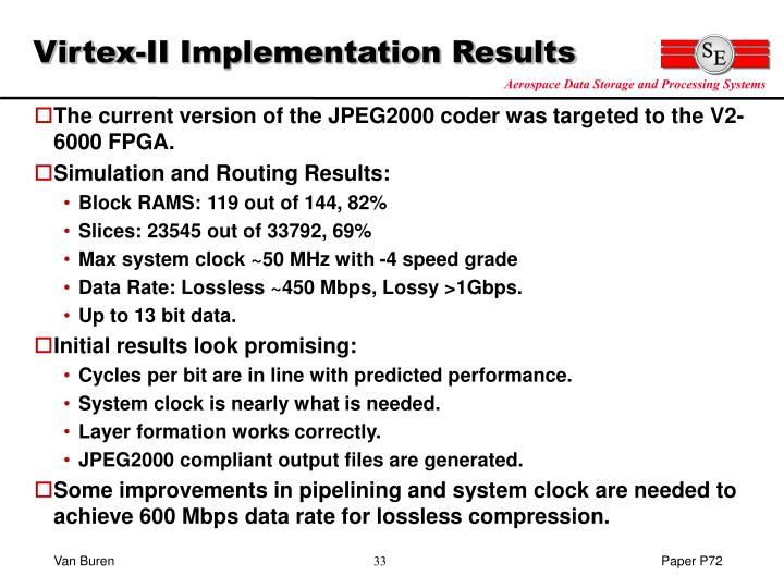 Virtex-II Implementation Results