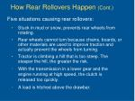 how rear rollovers happen cont