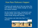 how rear rollovers happen