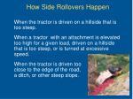 how side rollovers happen