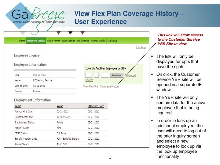 View Flex Plan Coverage History –
