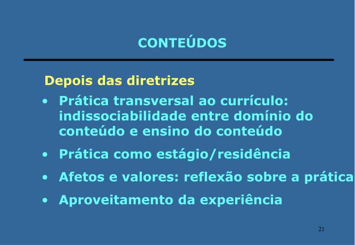 CONTEÚDOS