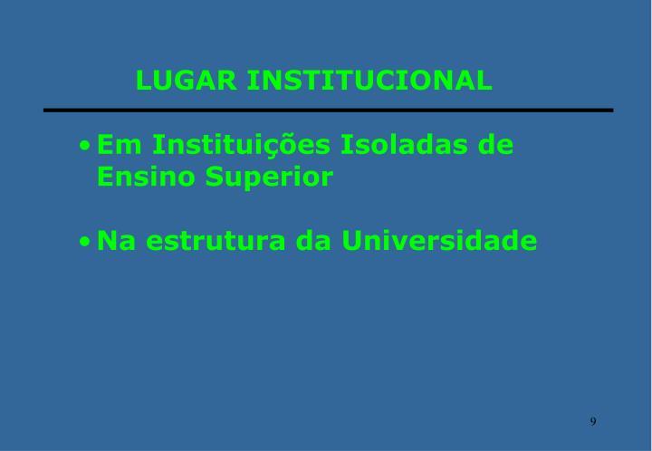 LUGAR INSTITUCIONAL