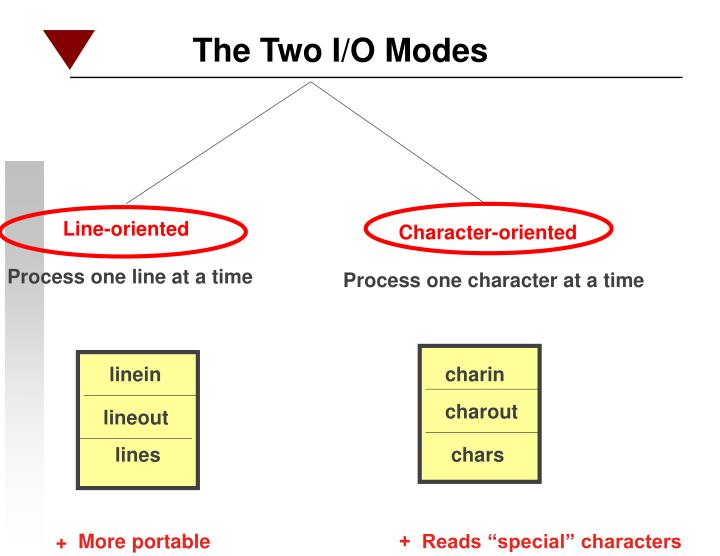 The Two I/O Modes