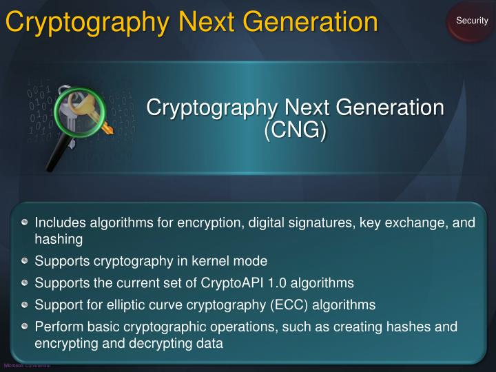 Cryptography Next Generation