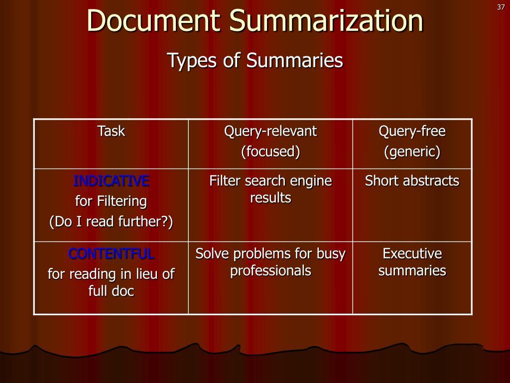 Document Summarization