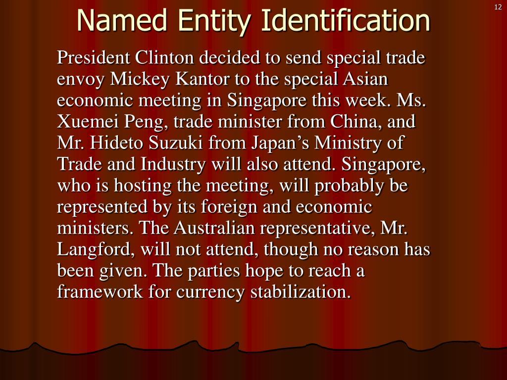 Named Entity Identification