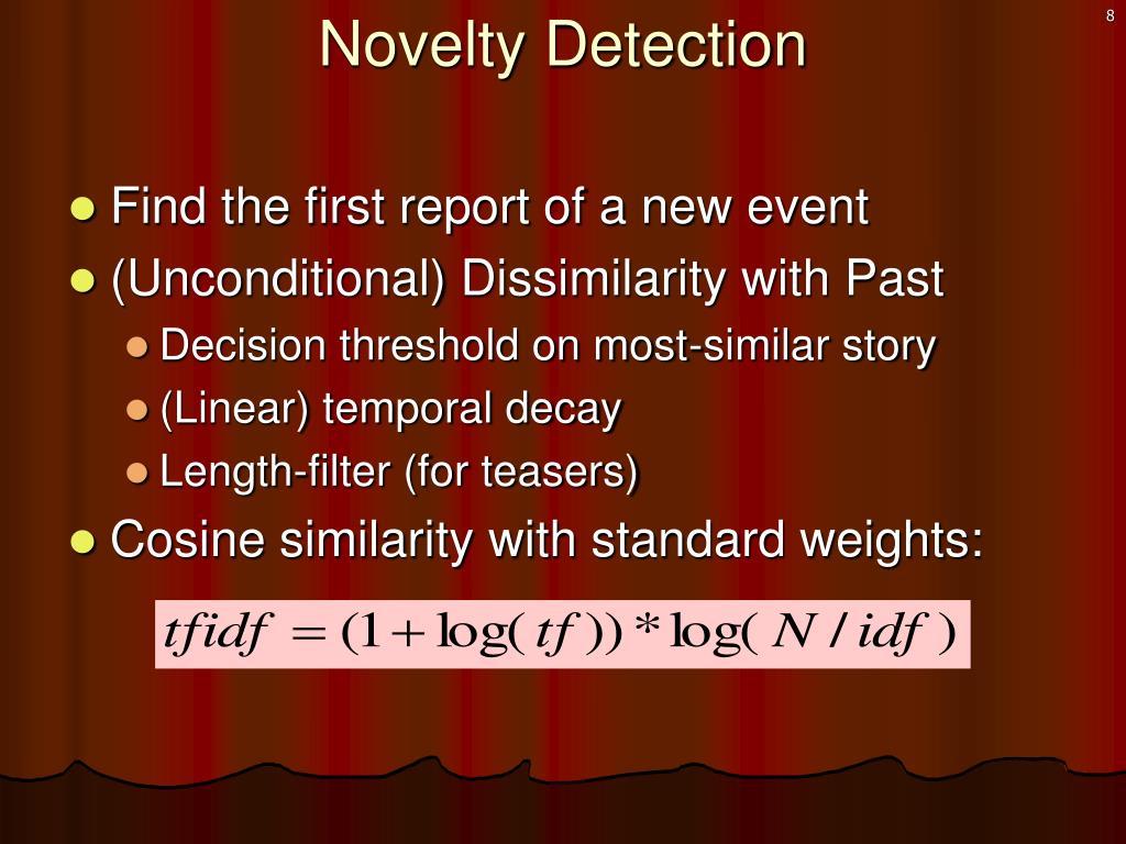 Novelty Detection