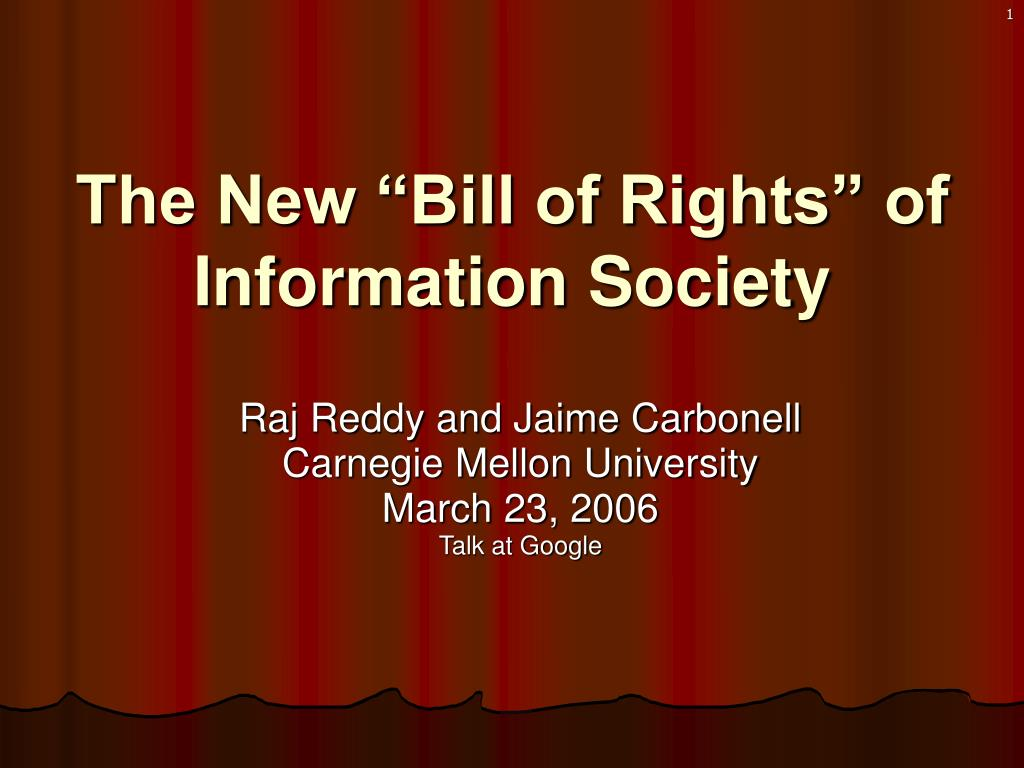 """The New """"Bill of Rights"""" of Information Society"""