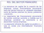 rol del sector financiero