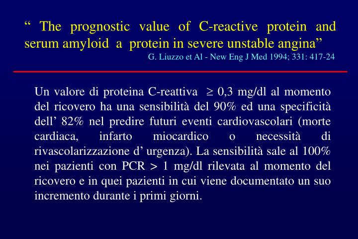 """ The prognostic value of C-reactive protein and serum amyloid  a  protein in severe unstable angina"""
