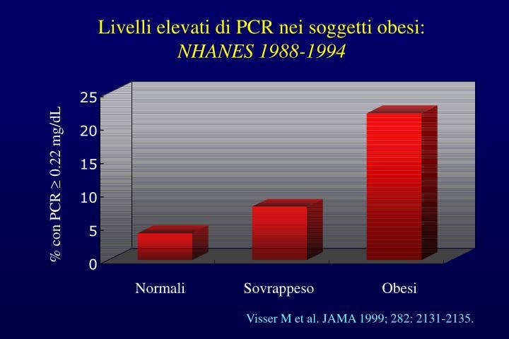 Livelli elevati di PCR nei soggetti obesi: