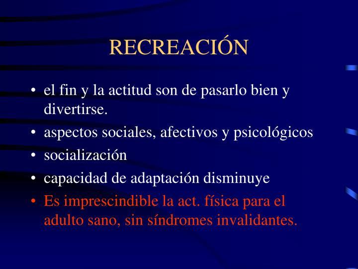 RECREACIÓN