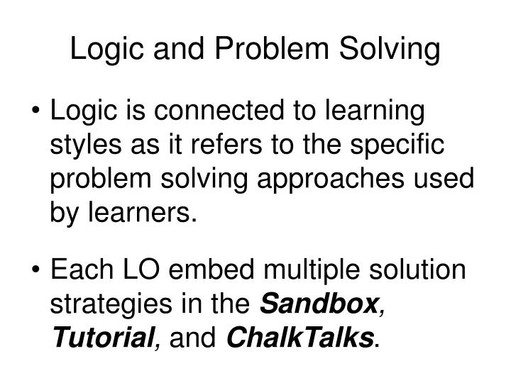 Logic and Problem Solving