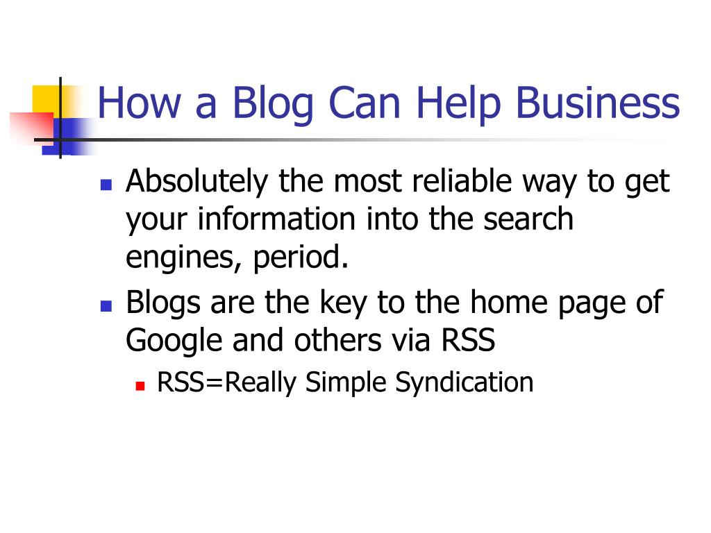 How a Blog Can Help Business